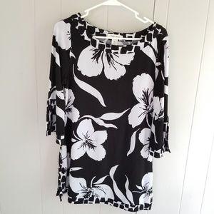 White House Black Market Dress Bell Sleeve A-line